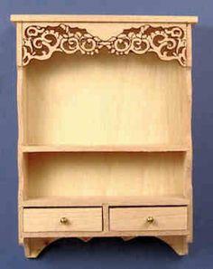 Dollhouse Miniature Furniture Decor Cabinet Shelves Bookcase Golden Pattern P0CA