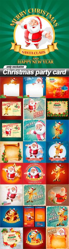 Christmas party card - 25 EPS
