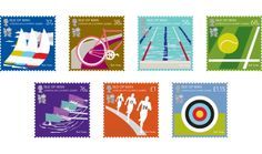 Paul Smith designs stamps for the 2012 Olympics