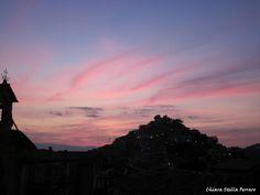 Acri - tramonto sul rione padia