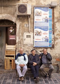 hanging with the locals, Cefalu, Sicily
