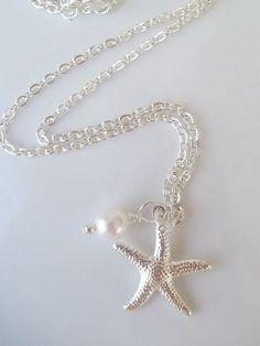 Starfish NecklaceStarfish Bridesmaid NecklaceSilver
