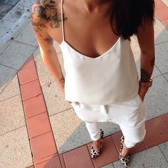 Today in all white @