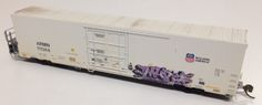 N scale ARMN UP Reefer with graffiti decal and light weathered