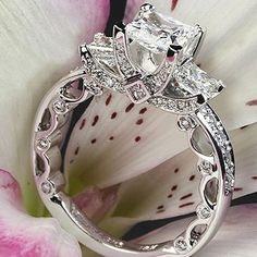 My next ring will look something like this (same husband of course) I want the three stones to symbolize our three children!