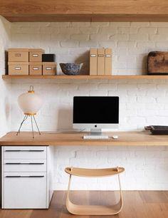 wooden ledge desk - Google Search