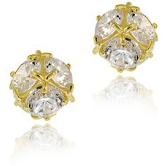 Icz Stonez 14k Gold Cubic Zirconia Ball Stud Earrings