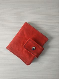 Red wallet, Small wallet, Waxed canvas wallet, Women's wallet, Bi fold wallet, Wallet women, Handmade wallet, Small wallet for men