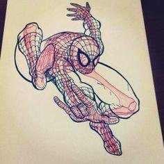 Spiderman aux rayons X by Chris Panda