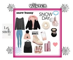 """""""Winter outfit"""" by flawsome32 on Polyvore featuring Topshop, Gap, Timberland, rag & bone, Casetify, Giorgio Armani and West Coast Jewelry"""