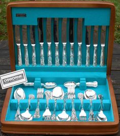 KINGS+PATTERN+-+44+PIECE+CANTEEN+SILVER+PLATED+EPNS+A1+SHEFFIELD+CUTLERY+VINTAGE+(#47764)