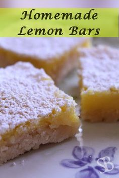 Sustainable Blessings: Lemon Bars