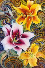 pinturas al oleo de flores abstractas - Buscar con Google