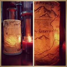 The Game Room: Skyrim Inspired Vase #DIY #Craft. I would make Game of Thrones or Lord of the Rings instead for a home theatre :)