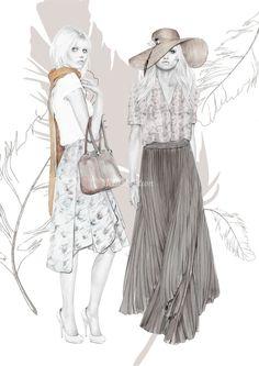 Estilização da figura de moda - Industria Textil e do Vestuário - Textile Industry - Ano VII