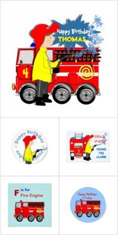 Kids Cute Fire Fighters Truck Theme