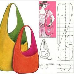 Best 12 DIY Most popular DESIGN HANDBAG TUTORIAL / / Tote Bag In 10 Min Sewing Ea …, You can collect images you discovered organize them, add your own ideas to your collections and share with other people. Bag Patterns To Sew, Sewing Patterns, Denim Bag Patterns, Handbag Patterns, Dress Patterns, Handbag Tutorial, Diy Handbag, Tote Tutorial, Diy Purse