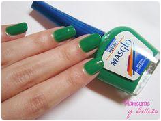 Swatch esmalte Fiestera de Masglo verde Swatch, Make Up, Drink, Random, Food, Sour Cream, Pedicures, Cute Stuff, Fingernail Designs