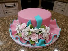 Cake Icing Tips, Fondant Cake Designs, Pretty Cakes, Cute Cakes, Beautiful Cakes, Cake Works, Hat Cake, 40th Birthday Cakes, Easter Cupcakes