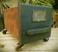 upcycle wood drawers just add some antique castors.