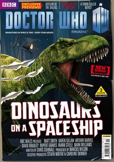 Doctor Who The Official Magazine Issue Oct 2012 Dinosaures on a Spaceship Special Cover of Doctor Who Magazine, Doctor Who Episodes, Arthur Darvill, New Doctor Who, Karen Gillan, Bbc One, Space Time, One Back, Time Lords