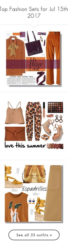 """""""Top Fashion Sets for Jul 15th, 2017"""" by polyvore ❤ liked on Polyvore featuring Gucci, A.W.A.K.E., Rupert Sanderson, Chanel, Vera Bradley, NYX, MyPowerLook, TIBI, Isolde Roth and Schutz"""