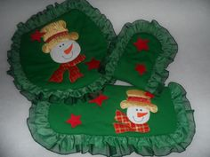 JUEGO DE BANO, MUNECO DE NIEVE Navidad Diy, Christmas Tree, Christmas Ornaments, Bathroom Sets, Tree Skirts, Ideas Para, Holiday Decor, Pattern, Mary