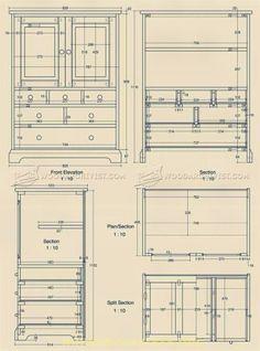 #2409 Oak Tallboy Plans - Furniture Plans