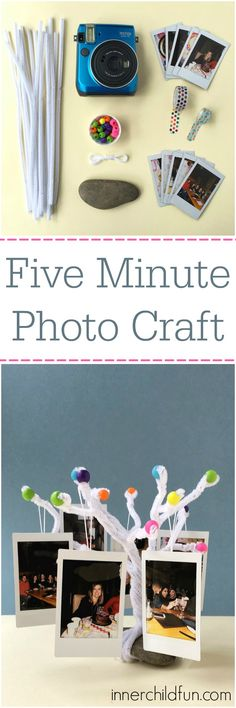 Five Minute Photo Craft -- love this!! #myinstax #sk #ad