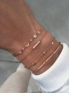 gold diamond moon and star cosmos bracelet – Luna Skye Cute Bracelets, Ankle Bracelets, Fashion Bracelets, Jewelry Bracelets, Fashion Jewelry, Silver Bracelets, Layered Bracelets, Silver Earrings, Stud Earrings