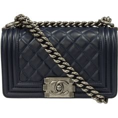 Chanel Boy Quilted Lambskin Flap Bag (96 935 UAH) ❤ liked on Polyvore  featuring bags, handbags, chanel, navy blue, quilted handbags, handbags  purses, ... 76fb048c86