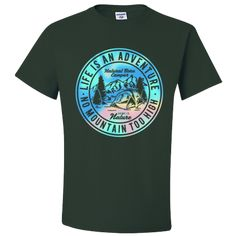 Life is an Adventure Tshirt Home is Nature No Mountain is Too High Natural Life Camper Adult Unisex T-Shirt Unisex Gifts, Life Is An Adventure, Natural Life, Camper, Nature, Sleeves, Mens Tops, T Shirt, Cotton
