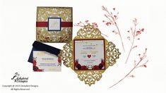 Gold Laser Cut Wedding Invitation