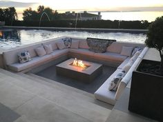In a fire pit and a seating area with a pool - # a # a # fire pit . - In a fire pit and a seating area with a pool – - Fire Pit Seating, Backyard Seating, Backyard Patio Designs, Fire Pit Backyard, Outdoor Seating, Backyard Landscaping, Backyard Ideas, Seating Areas, Modern Backyard Design