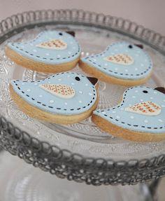 Bluebird cookies - SO adorable!!!