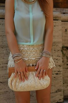 Lace and mint