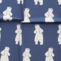 TALVINALLE, sininen | New NOSH fabric collection for Winter 2016! Get inspired from polar bears and pastel colors. Shop this new fabric collection at en.nosh.fi