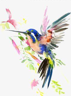Painting Watercolor Birds Art Illustrations 36 Ideas For 2019 Watercolor Bird, Watercolor Animals, Watercolor Paintings, Watercolor Hummingbird, Watercolor Tattoo, Paintings Of Birds, Hummingbird Illustration, Watercolor Ideas, Art Paintings