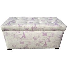 Bring a touch of romance to your decor with this vintage-inspired storage bench.    Product: Storage bench    Construction...