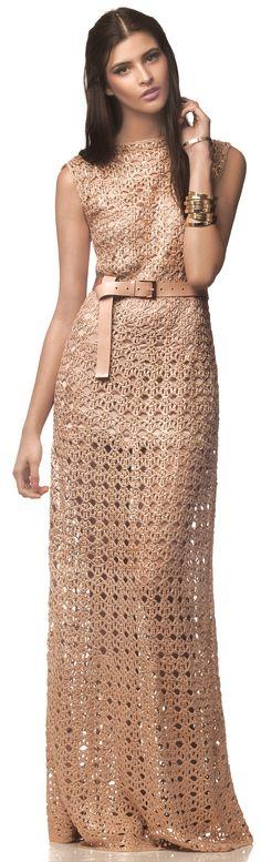 Giovana Dias crochet dress       ♪ ♪ ... #inspiration #diy GB http://www.pinterest.com/gigibrazil/boards/