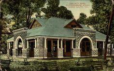 Vintage Old INDIANA Postcard Terre Haute Collett Park