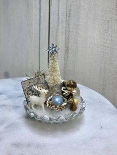 Christmas Tree Candles, Christmas Rock, Christmas Wishes, Kids Christmas, Crochet Christmas, Christmas Baubles, Christmas Stuff, Vintage Christmas Crafts, Shabby Chic Christmas