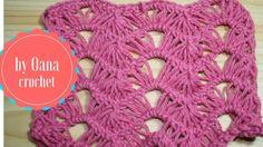 Crochet broomstick lace chevron variation by Oana