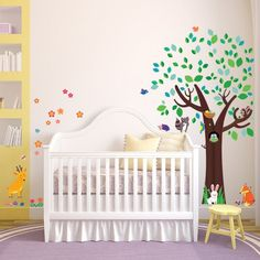 Decowall, DM-1312, Large Tree and Animal Friends Wall Stickers/Wall decals/Wall tattoos/Wall transfers:Amazon.co.uk:Baby