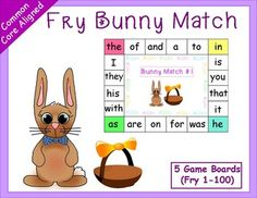 *50% off for the first 48 hours. March 7th - March 8th. This fun board game can help students learn more sight words. They target 100 Fry sight words! Also available for the Dolch Sight Words (1-100).