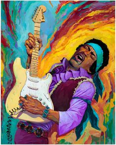 Jimi Hendrix - Rich Pellegrino - ''Interstellar Voodoo Gypsy'' ---- Rock Posters, Concert Posters, Affiche Jimi Hendrix, Images Hippie, Jimi Hendricks, Spoke Art, Jimi Hendrix Experience, Blues Music, Psychedelic Art