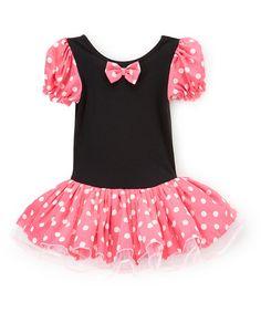 Look what I found on #zulily! Pink & Black Drop-Waist Dress - Infant, Toddler & Girls #zulilyfinds