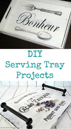 Today I've rounded up 14 DIY Serving Tray Project Ideas! All of these pretty crafts and projects were created using Vintage Graphics from my site. Some were created by me, some by my contributors and some were submitted by readers! Wood Projects, Woodworking Projects, Craft Projects, Project Ideas, Wood Crafts, Diy And Crafts, Ideias Diy, Graphics Fairy, Diy Gifts