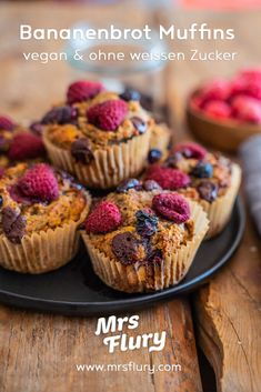 Gesunde Bananenbrot Muffins - vegan und proteinreich - Mrs Flury Protein Snacks, Healthy Sweets, Mini Cupcakes, Cheesecake, Baking, Breakfast, Food, Protein Brownies, Super