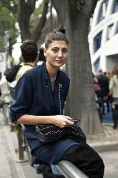 Giovanna Battaglia is the editor of L'Uomo Vogue, a freelance fashion stylist, and contributing fashion editor to W magazine